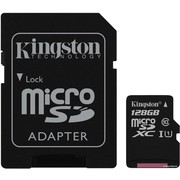 Карта памяти Kingston Canvas Select SDCS/128GB microSDXC 128GB (с адаптером)